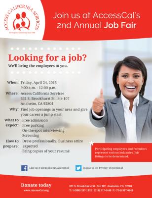 FLYER - Job Fair 2015