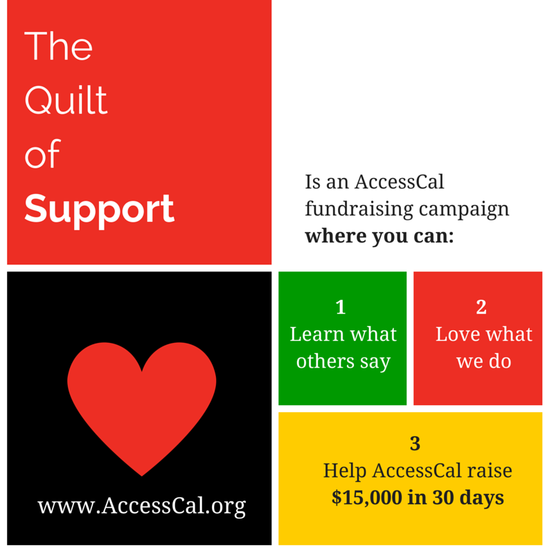 The AccessCal Quilt of Support