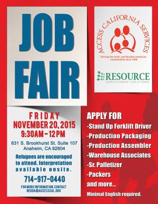 Job Fair 11-20-15