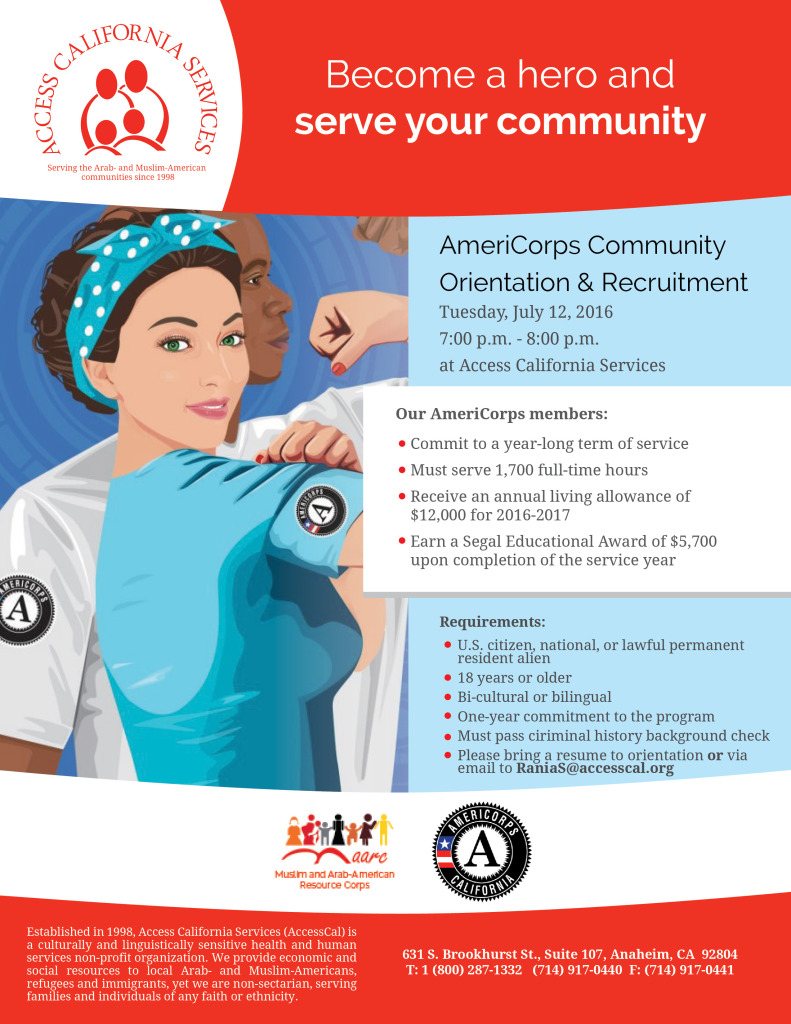 join accesscal u0026 39 s americorps orientation and become an